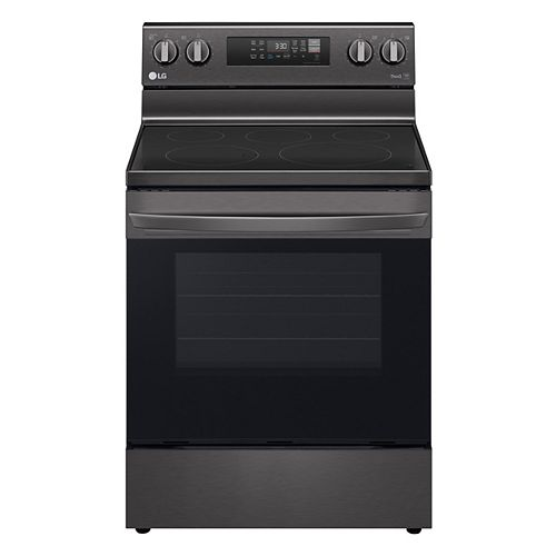 6.3 cu. ft. Smart Electric Range with Air Fry and Wi-Fi in Black Stainless Steel