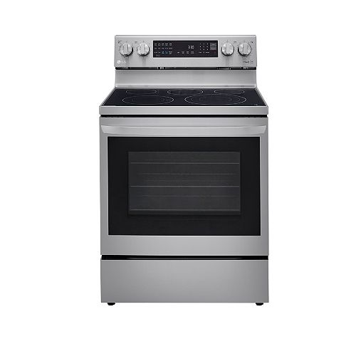 LG Electronics 6.3 cu. ft. Smart Electric Range with InstaView and Air Fry in Smudge Resistant Stainless Steel