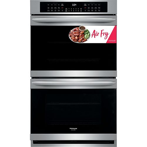 30-inch W 10.2 cu. ft. Air Fry Double Electric Wall Oven Self-Cleaning in Smudgeproof Stainless Steel