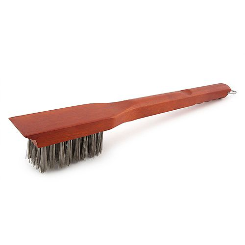 Heavy Duty Long Bristle Grill Cleaning Brush with Tooth Scraper