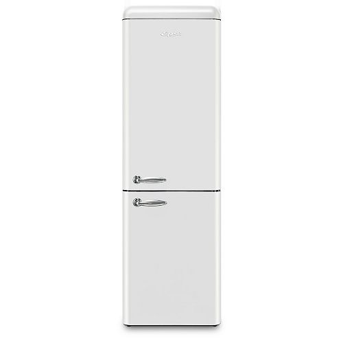 Epic Epic 24-inch W 11 cu. ft. Bottom Freezer Retro Refrigerator in White, Energy Star