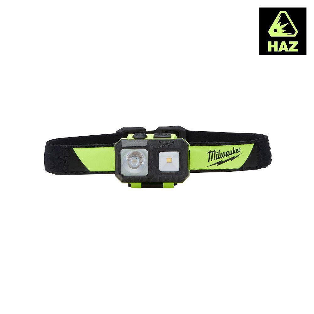 Milwaukee Tool 310 Lumens LED Intrinsically Safe Spot/Flood Headlamp with Batteries