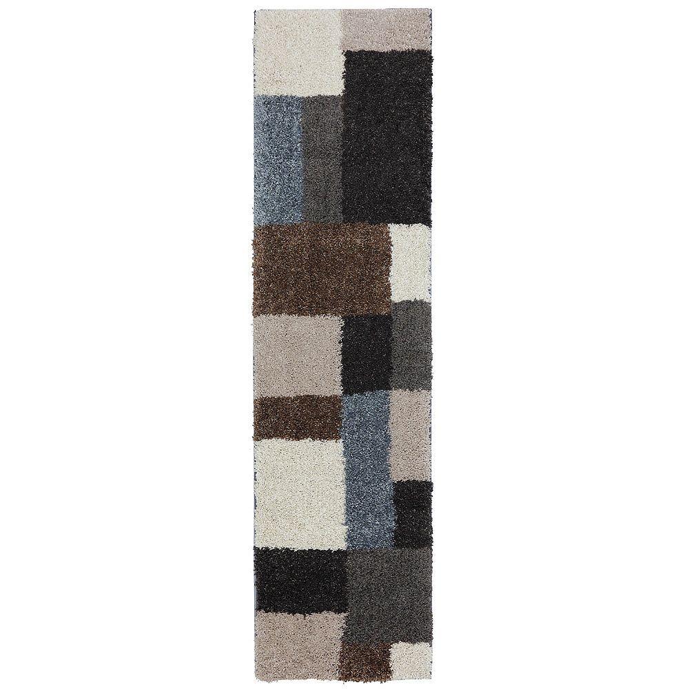 Mohawk Home Franklin gris noir 61 cm x 239 cm (2 pi x 7 pi 10 po)dintérieur Tapis