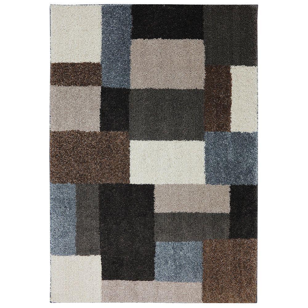 Mohawk Home Franklin gris noir 198 cm x 305 cm (6 pi 6 po x 10 pi)dintérieur Tapis