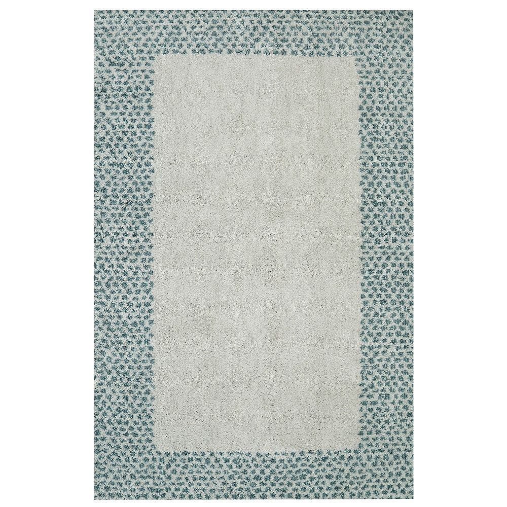 Mohawk Home Spotted Border Green 5 ft. x 8 ft. Indoor Area Rug