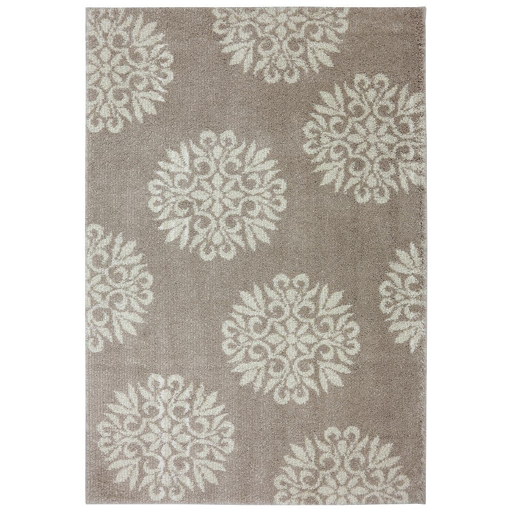 Mohawk Home Exploded Medallions Sand Stone 10 x 14 ft. Indoor Area Rug