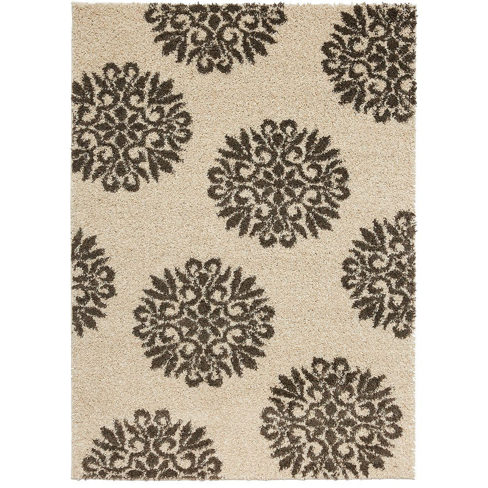 Mohawk Home Exploded Medallions Cocoa 8 ft. x 10 ft. Indoor Area Rug