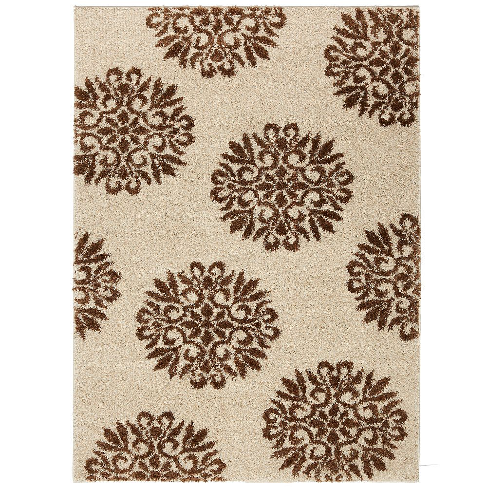 Mohawk Home Exploded Medallions Biscuit 5 ft. x 7 ft. Indoor Area Rug