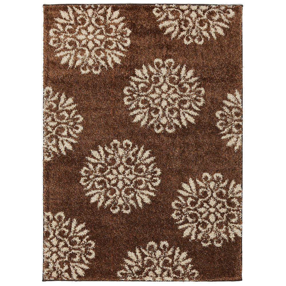 Mohawk Home Exploded Medallions Dark Earth 10 x 14 ft. Indoor Area Rug