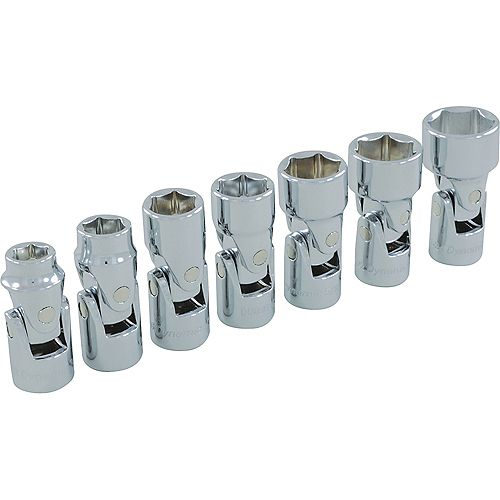3/8 inch Drive 7 Piece 6 Point SAE, Universal Joint Socket Set, 3/8 inch - 3/4 inch