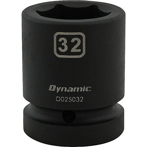 32MM X 1 inch Drive, 6 Point Standard Length, Impact Socket
