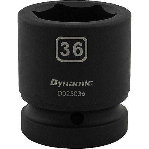 36MM X 1 inch Drive, 6 Point Standard Length, Impact Socket