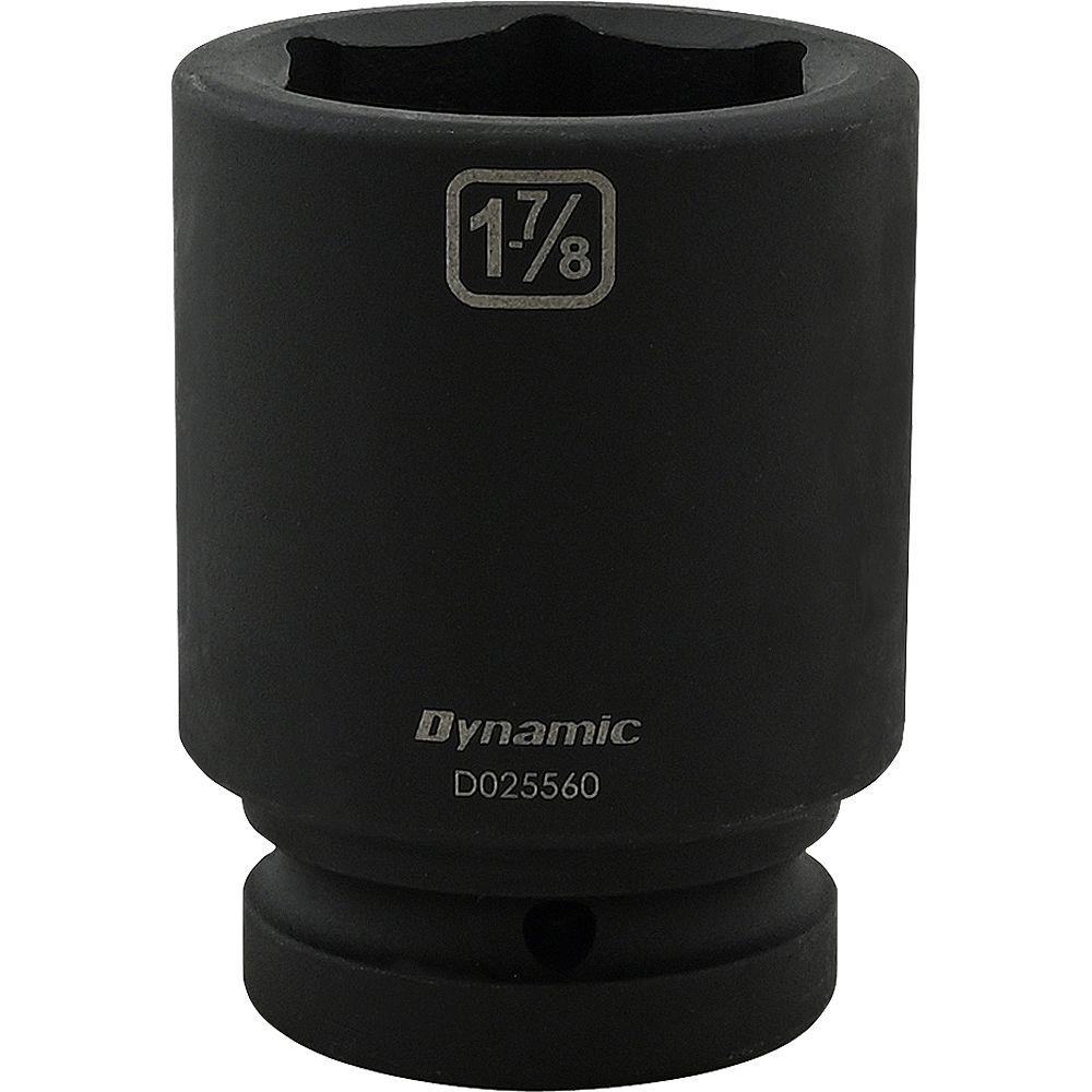 DYNAMIC TOOLS 1-7/8 inch X 1 inch Drive, 6 Point Deep Length, Impact Socket
