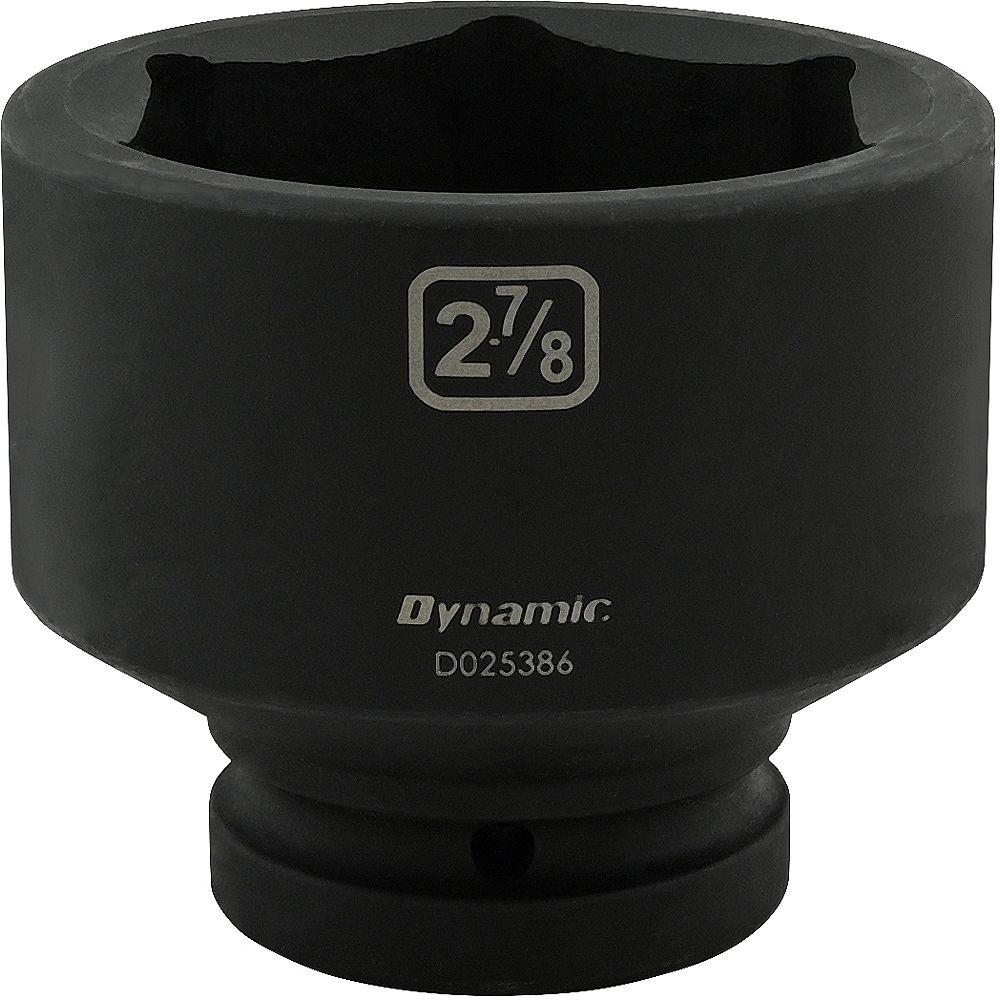 DYNAMIC TOOLS 2-7/8 inch X 1 inch Drive, 6 Point Standard Length, Impact Socket
