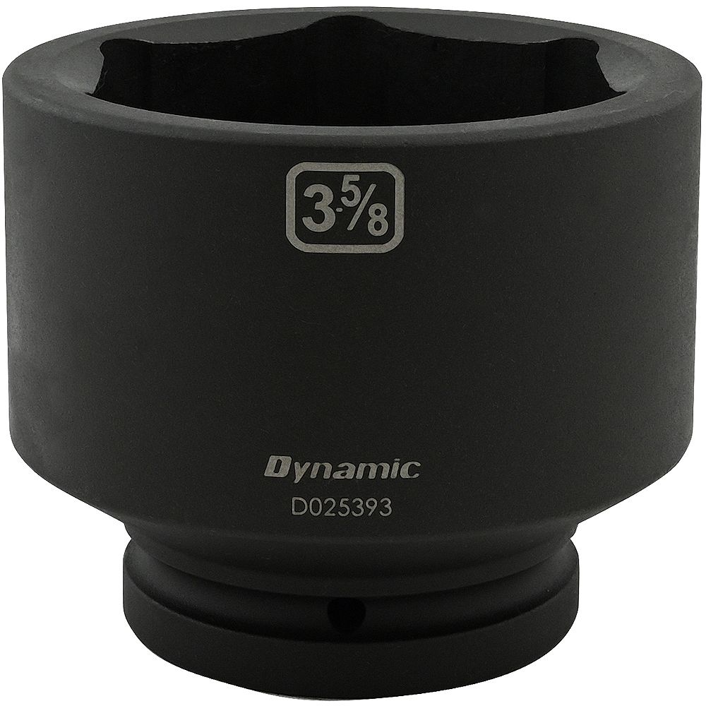 DYNAMIC TOOLS 3-5/8 inch X 1 inch Drive, 6 Point Standard Length, Impact Socket