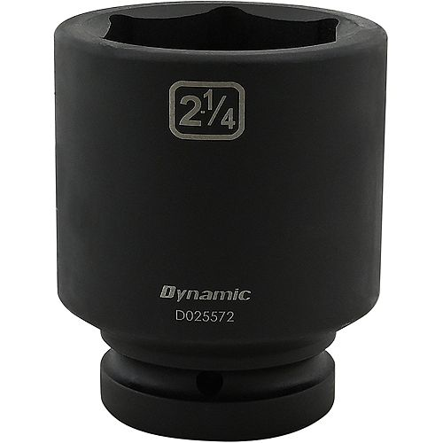 2-1/4 inch X 1 inch Drive, 6 Point Deep Length, Impact Socket