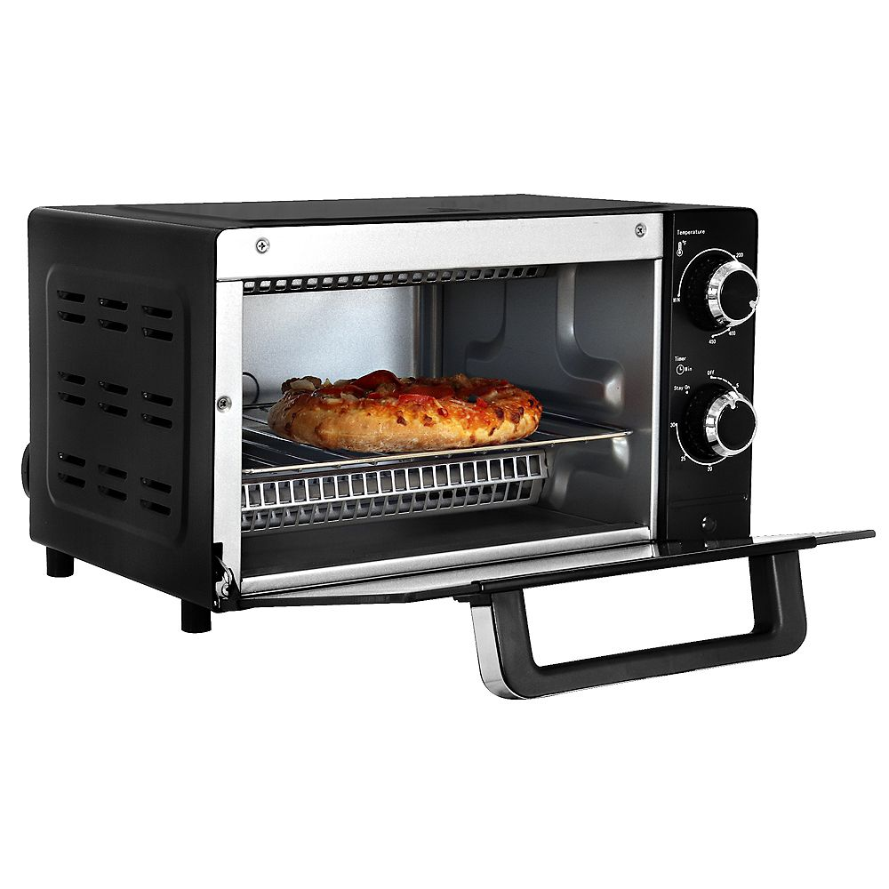 Total Chef Total Chef 4-Slice Toaster Oven with Timer and Temperature Control (1,000 Watts)