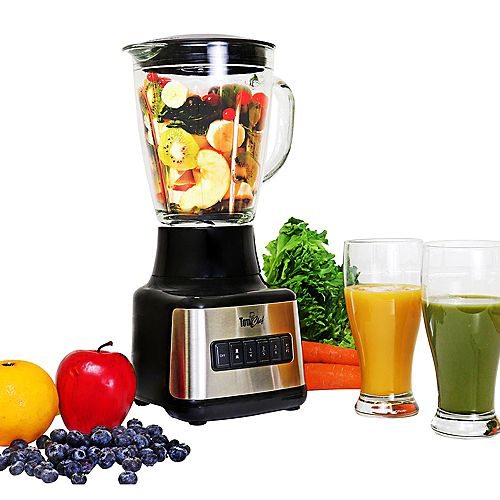 Total Chef 500 Watts 8-Speed Stand Blender with Glass Pitcher (1.6 Quarts/1.5 Liters)