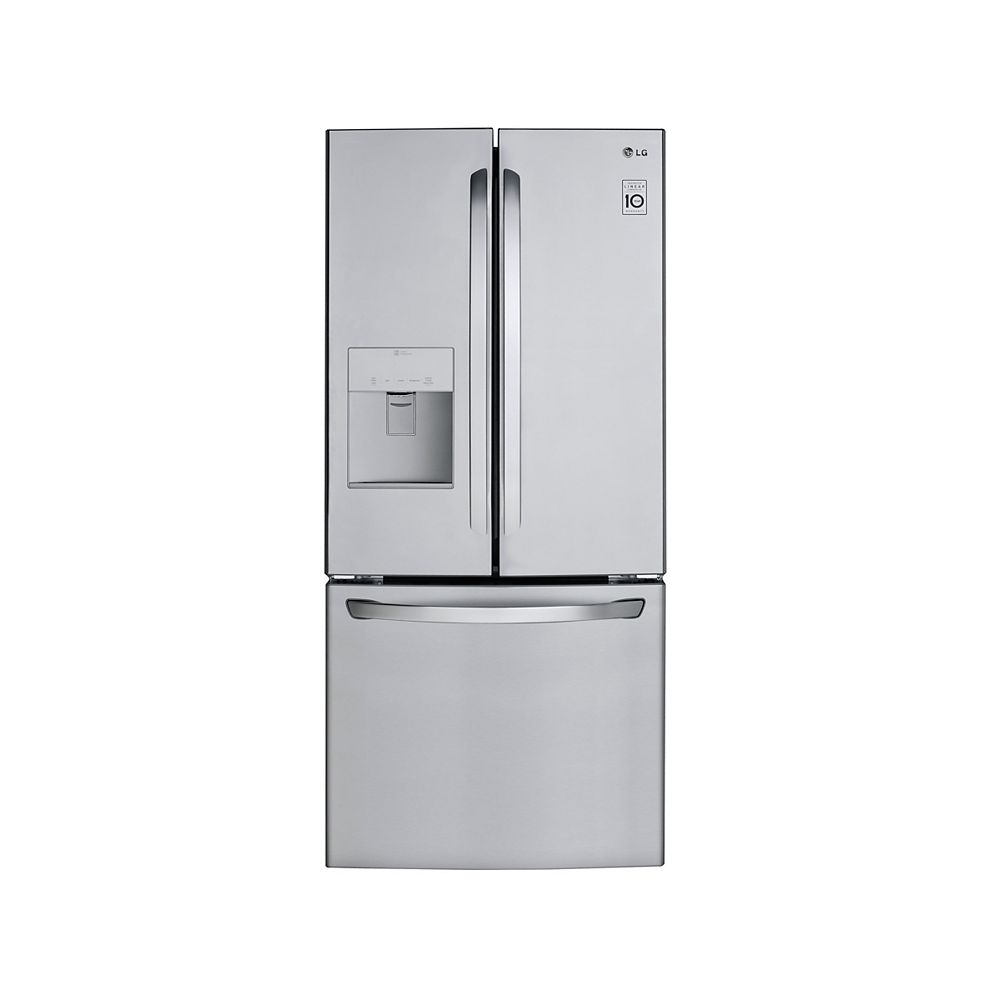 LG Electronics 30-inch W 22 cu. ft. French Door Refrigerator with Water & Ice Dispenser in Smudge Resistant Stainless Steel