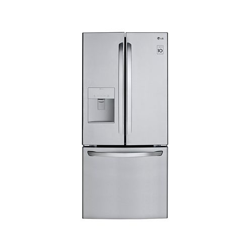 LG Electronics 30-inch W 22 cu. ft. French Door Refrigerator with Water & Ice Dispenser in Smudge Resistant Stainless Steel - ENERGY STAR®