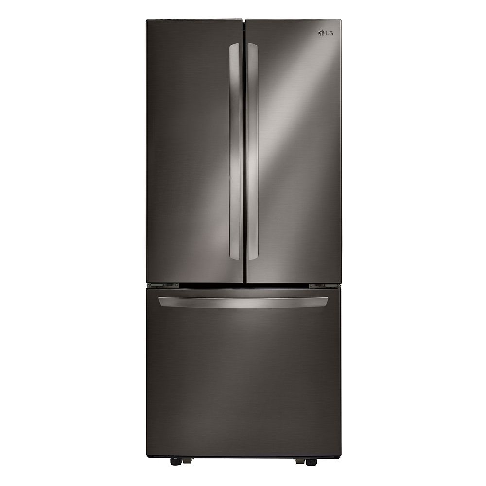 LG Electronics 30-inch W 22 cu. Ft. French Door Refrigerator in Smudge Resistant Black Stainless Steel - ENERGY STAR®