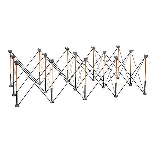 Centipede 30 inch x 48 inch x 96 inch Work Support With 4 X-Cups, 4 Quick Clamps, Bag, CK15S
