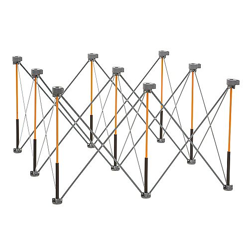 Centipede 30 inch x 48 inch x 48 inch Work Support With 4 X-Cups, 4 Quick Clamps, Bag, CK9S