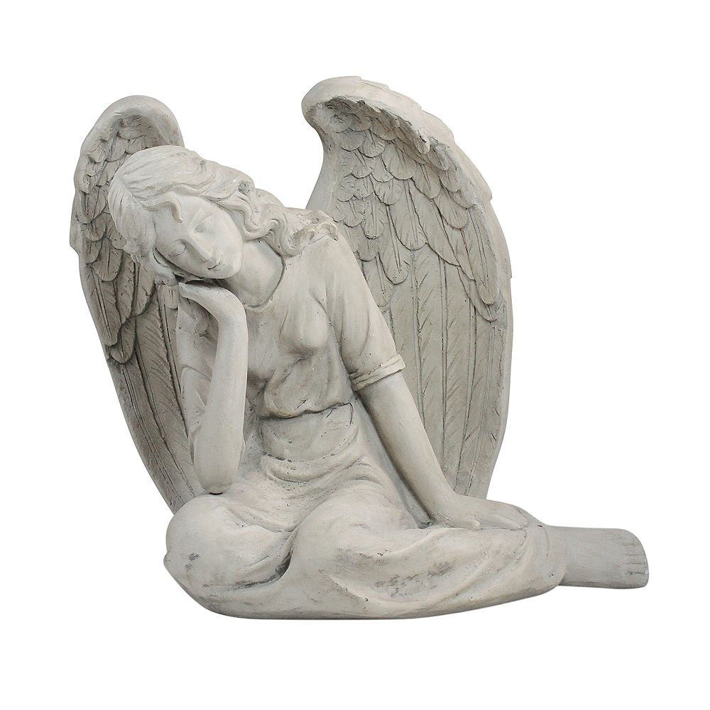 "Northlight 17"" Gris Graceful Sitting Ange extérieur Statue Jardin"