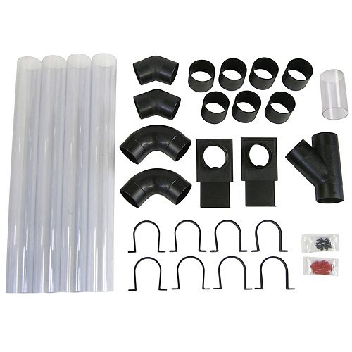 27 pc. 4 inch dust collection hook-up system