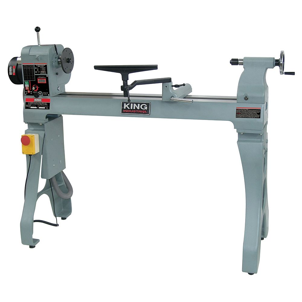 King Industrial 16 inch x 43 inch Wood lathe with electronic variable speed