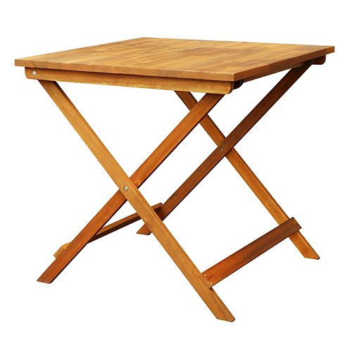 Table de bistrot pliante en acacia Sydney 30 po L x 30 po L x 29 po H