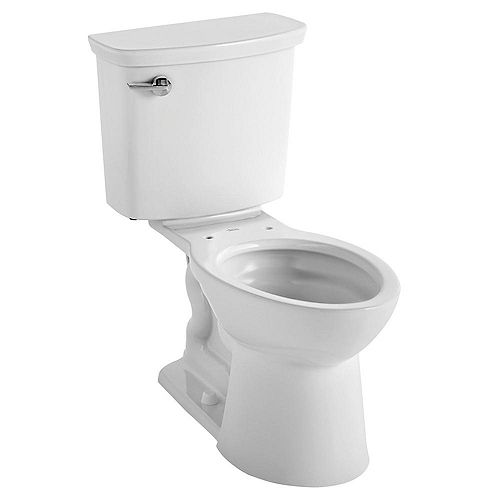 American Standard Vormax Tall Height 2-Piece 1.28 GPF Single Flush Elongated Toilet in White, Seat Not Included