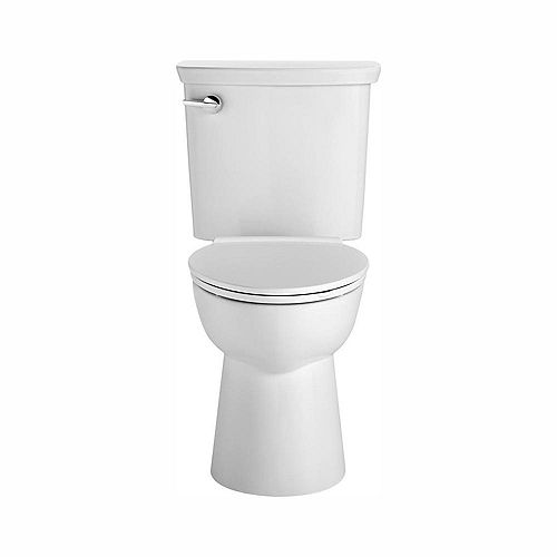 American Standard Vormax UHET Tall Height 2-Piece 1.0 GPF Single Flush Elongated Toilet in White, Seat Not Included