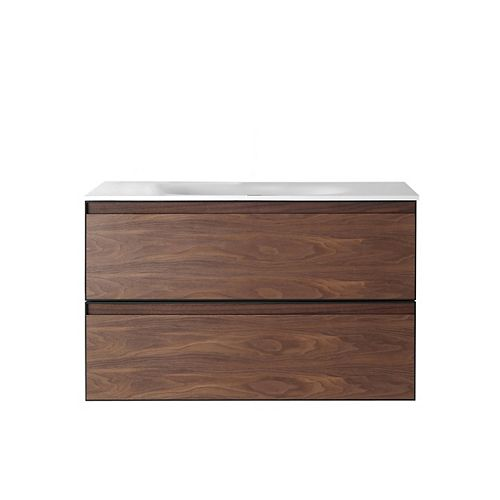 Magenta Vanity Walnut with Solid-Surface Top, 36 inch