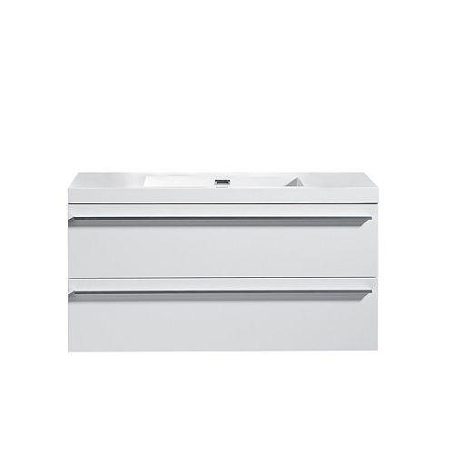Portofino Vanity White with Acrylic Top, 42 inch