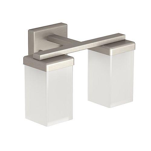 MOEN Vanity Light 90 degrés à 2 lumières en nickel brossé