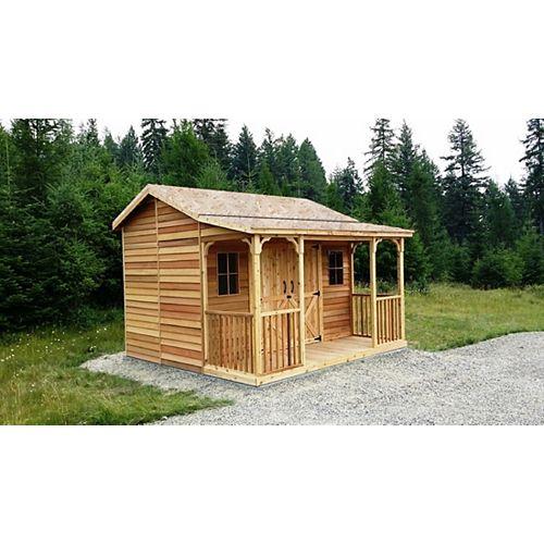 maison de ferme de cèdre 12x12