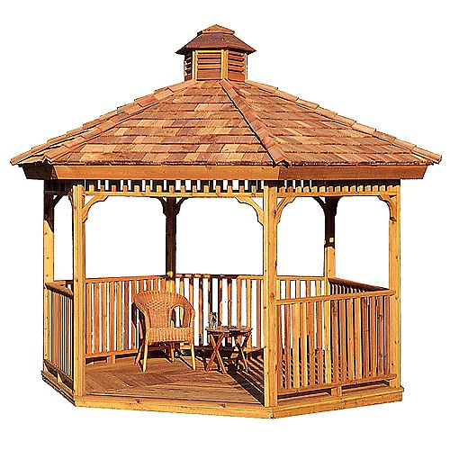 10ft Hexagon Panelized Cedar Gazebo