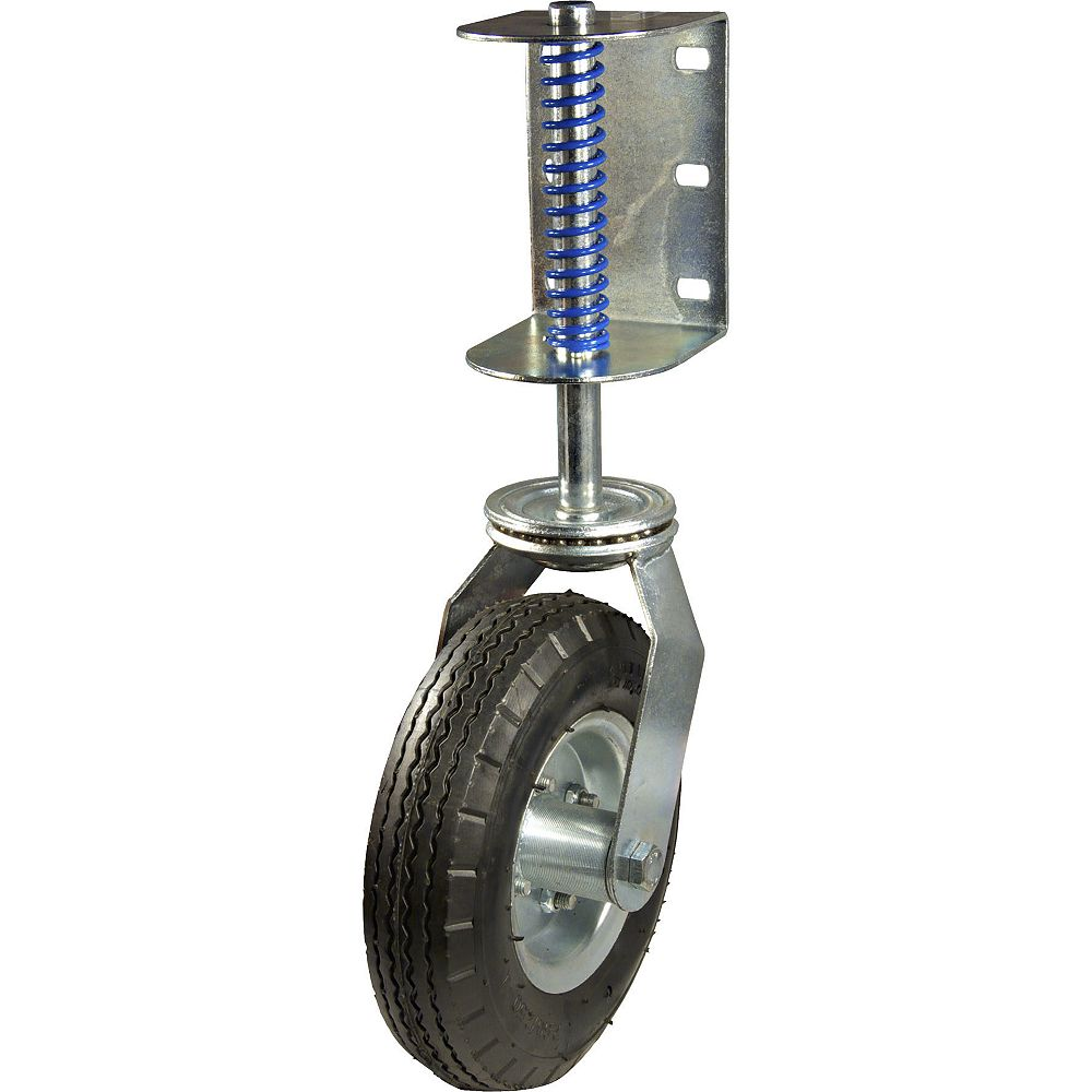 Madico 8 7/8-inch (226 mm) Gate Swivel Caster with Spring, 100 kg (220 lb)