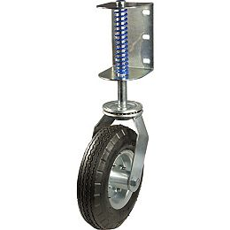 8 7/8-inch (226 mm) Gate Swivel Caster with Spring, 100 kg (220 lb)