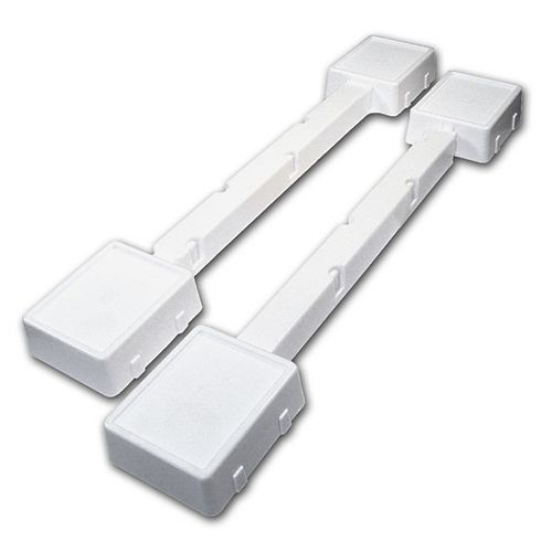 (2-Pack) 1 1/8-inch (28 mm) Fixed Appliance Caster, White