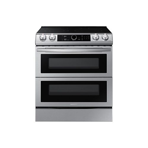 6.3 cu. ft. Double Oven Slide-In Electric Range with Self-Cleaning Convection Oven and Air Fry in Stainless Steel