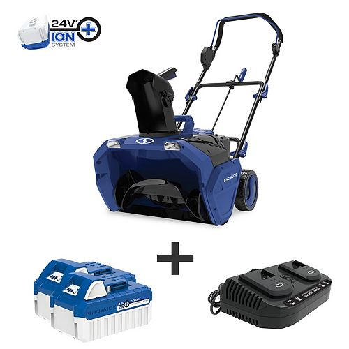 Snow Joe 20-inch 48V Cordless Electric Snow Blower Kit with 2 x 4.0 Ah Batteries Plus Charger