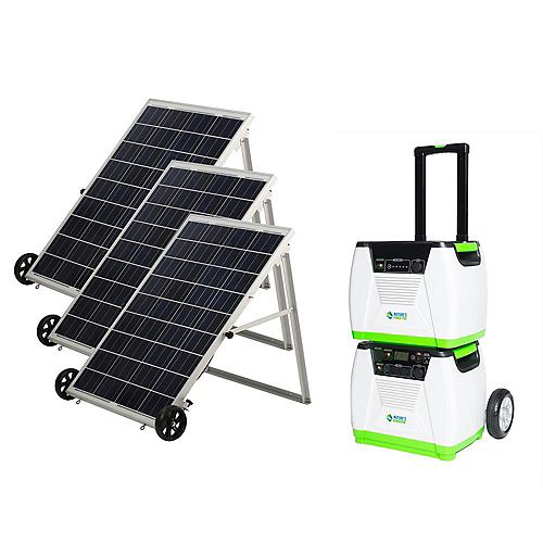 1800-Watt Solar Portable Generator with Power Pod