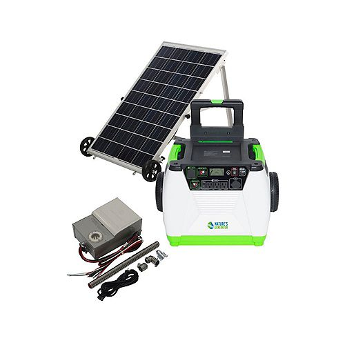 1800-Watt Solar Portable Generator with Power Transfer Kit