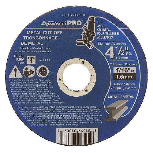 Diablo 4-1/2 Inch Type 1 Metal Cut-Off Disc 100-Disc Pro Pack