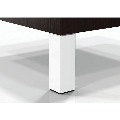 (4-Pack) Adjustable Furniture Leg, 5 29/32 in (150 mm), Matte White