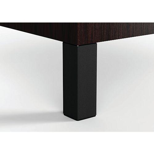 (4-Pack) Adjustable Furniture Leg, 9 27/32 in (250 mm), Matte Black