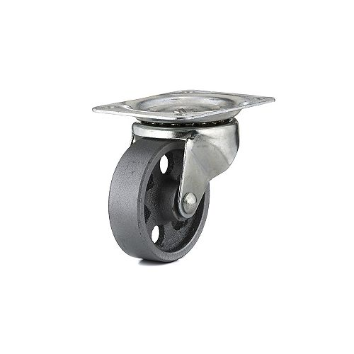 Industrial Sintered Iron Caster, Swivel Without Brake, with Plate, Metal