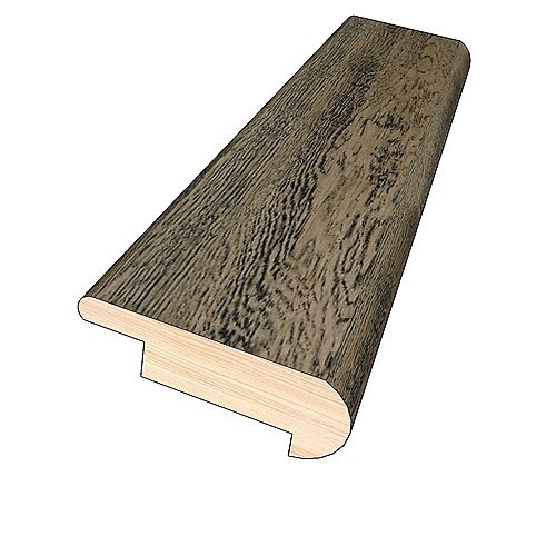 OptiWood Aged Bourbon 3/4-inch Thick x 2-inch Wide x 78-inch Length Hardwood Overlap Stair Nose